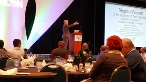 Stephen Foskett presents the keynote at the Chicago VMUG UserCon on September 23, 2015